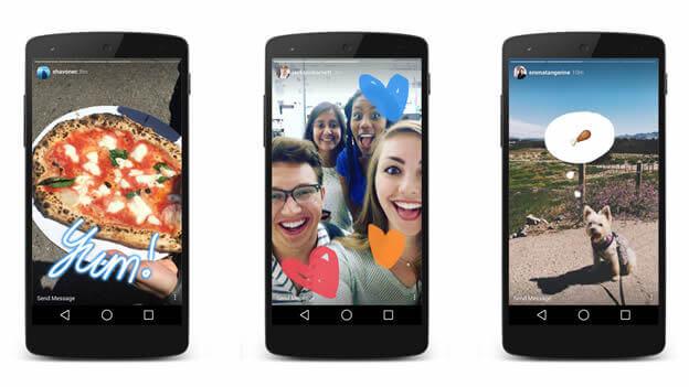 Instagram Snapchat'e rakip oldu